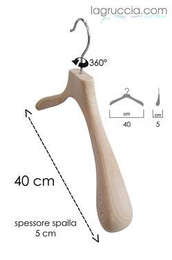 Gruccia in legno faggio Donna cm 40 art. 99030/40RBW