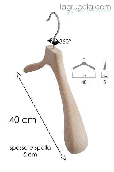 Grucce appendini, per abiti, donna, in legno faggio naturale