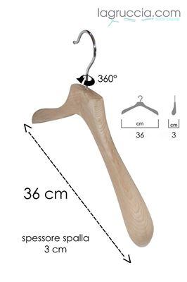 Gruccia in legno faggio junior cm 36 art.99053/36RBW