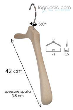 Grucce in legno faggio Uomo / Donna cm 42 art.99053/42RBW
