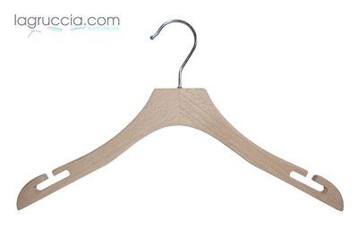 Grucce in legno faggio Donna cm 38 art. 99054/38RBW