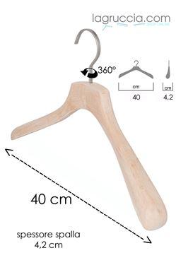 Gruccia in legno faggio Uomo / Donna cm 42 art. 99043/42RBW